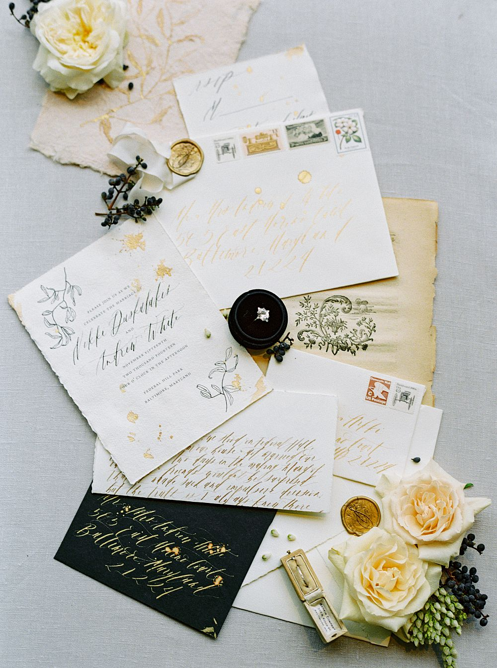 Shotgunning For Love Letters Calligraphy Wedding Stationery For