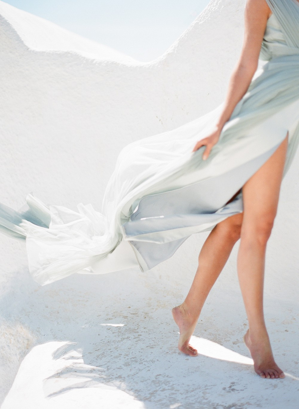 Ethereal Greece Bridal Inspiration with a Blue Dress