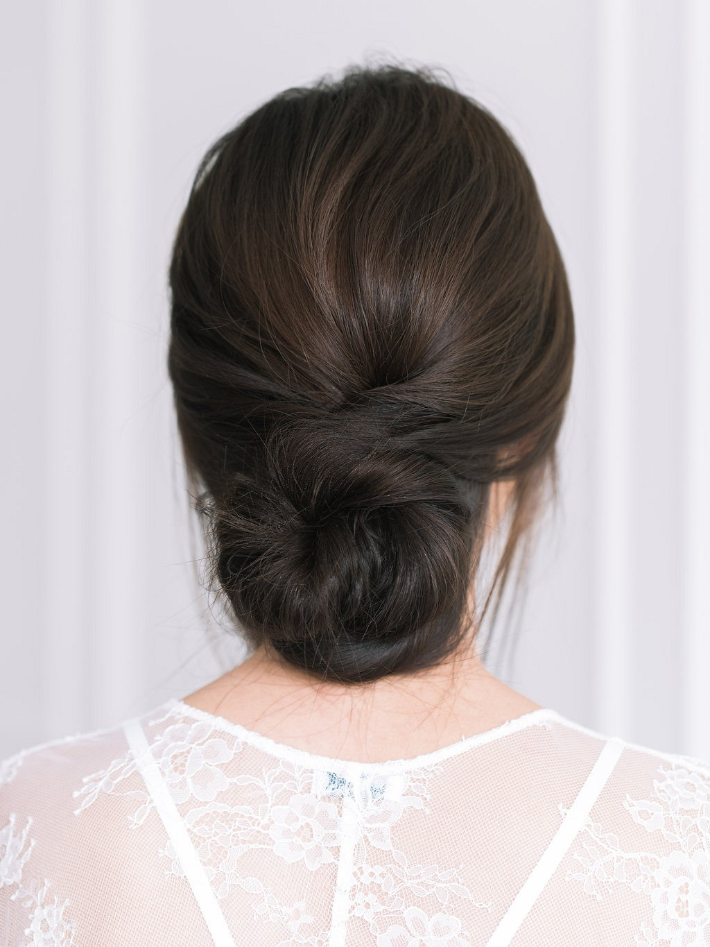 Relaxed Low Chignon Bridal Hair Tutorial