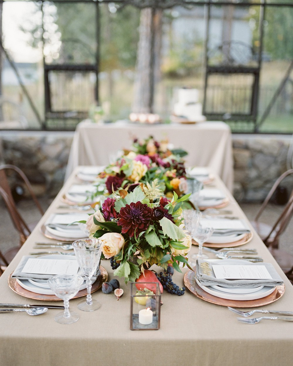Outdoor Wedding in Montana with Jewel Toned Florals