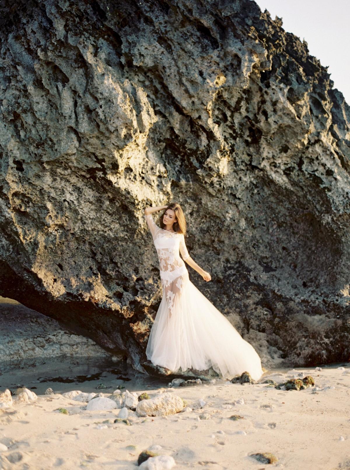 Ethereal Coastal Bridal Style in Bali