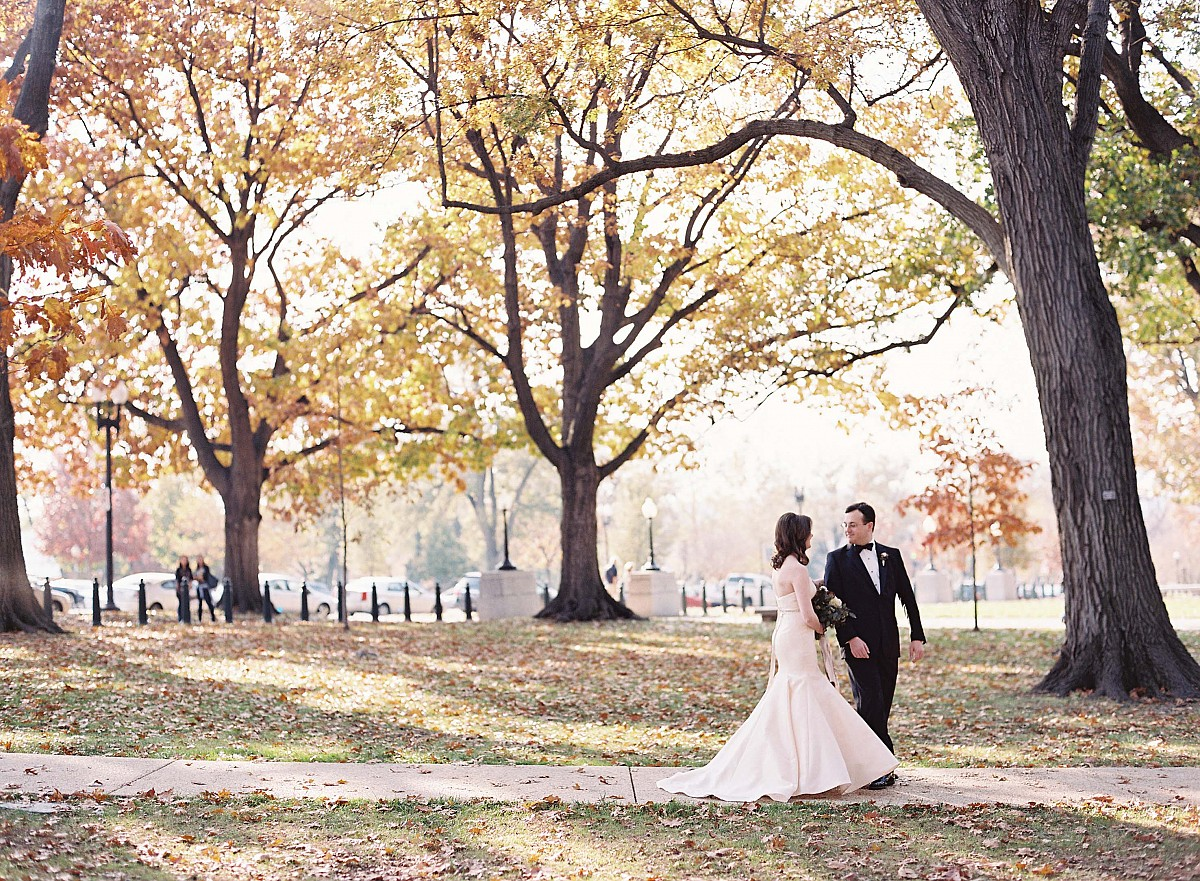 Julie and Forrest's Wine and Blush Fall Wedding