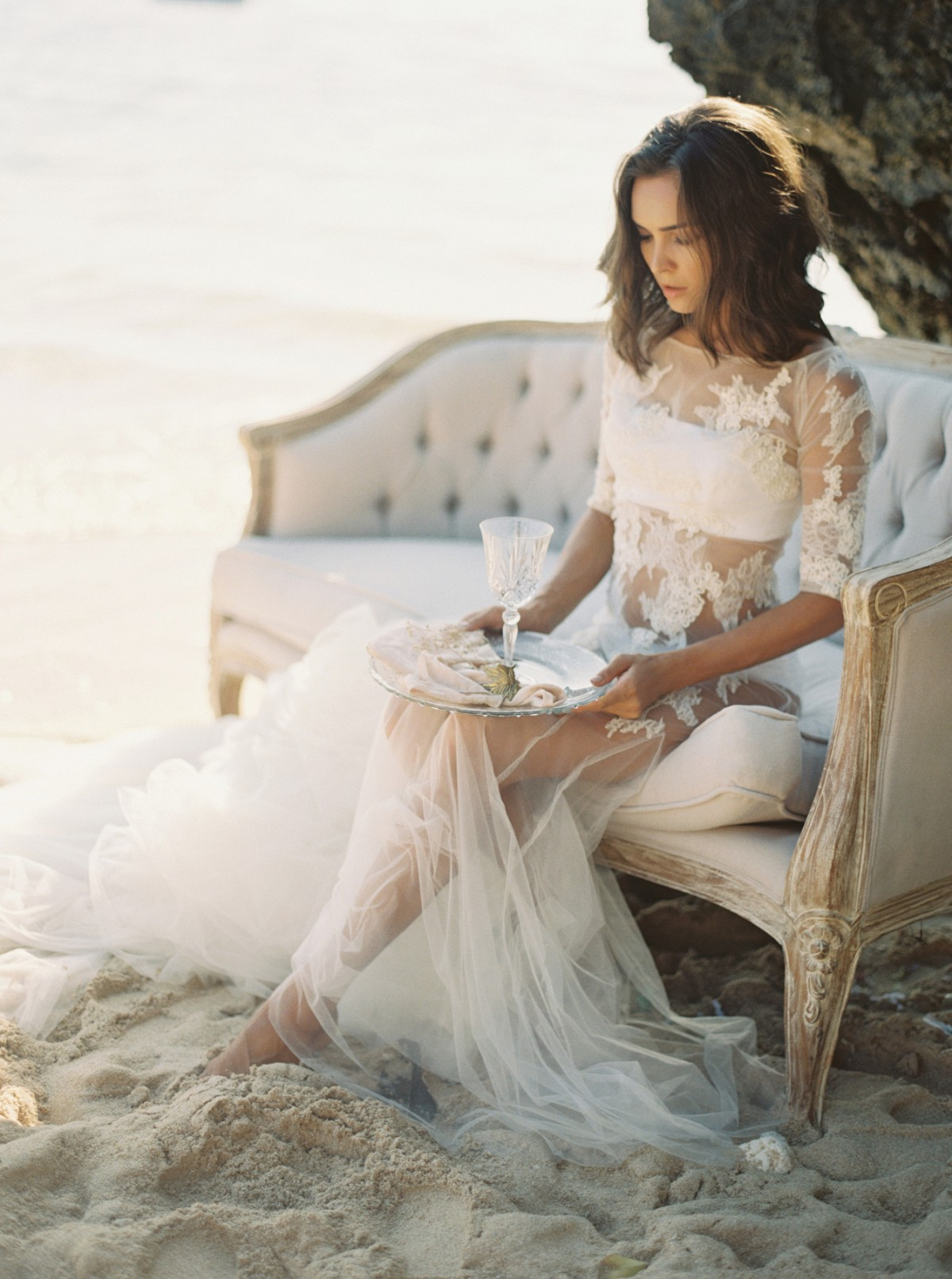 Ethereal Coastal Bridal Style in Bali