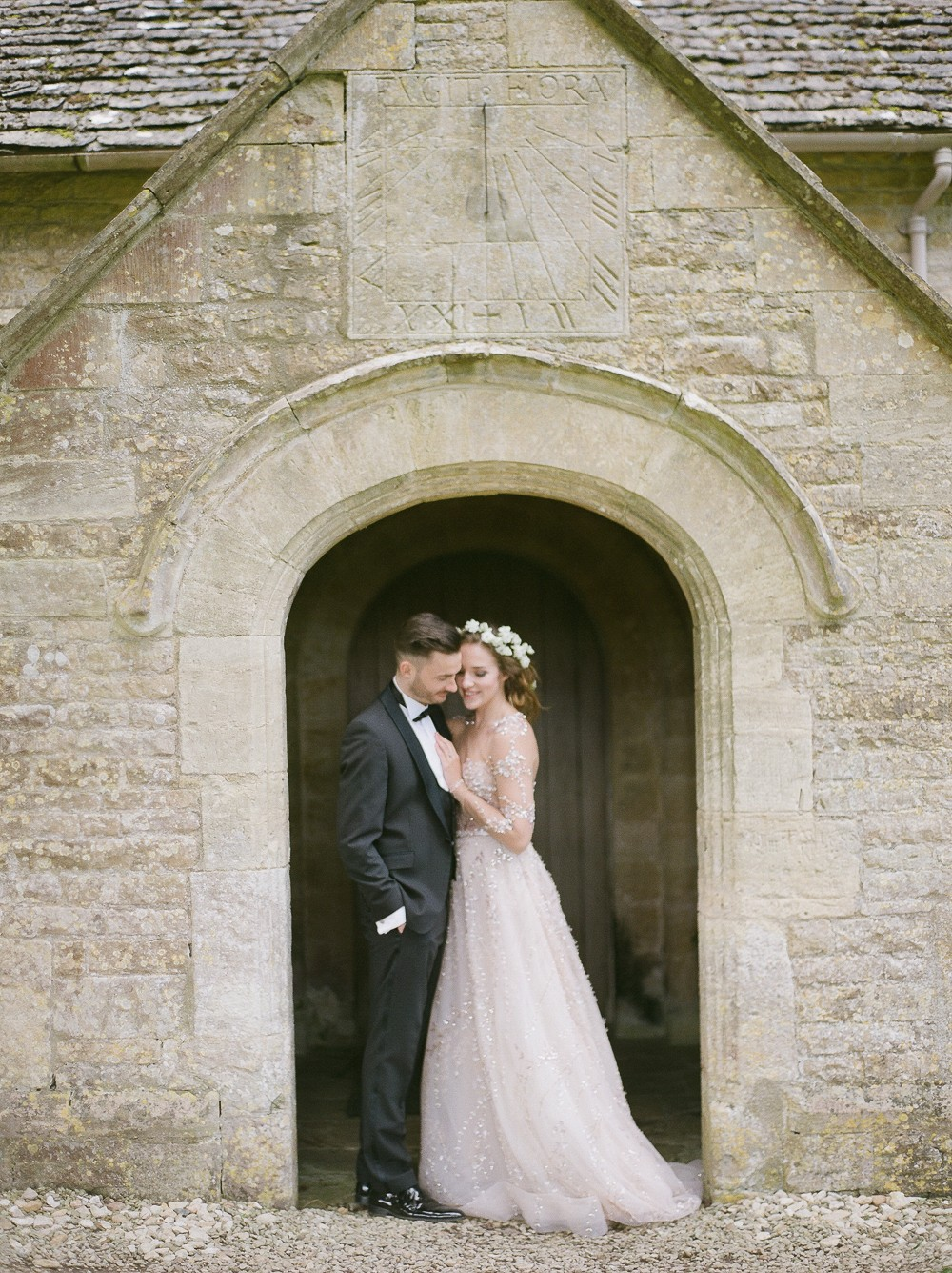 A classic English wedding with a touch of whimsical glam
