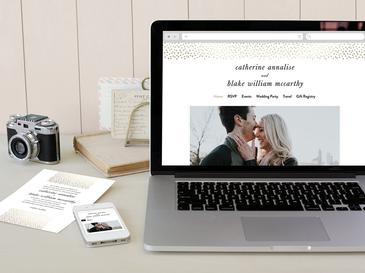 Minted - Wedding Sparrow - wedding website