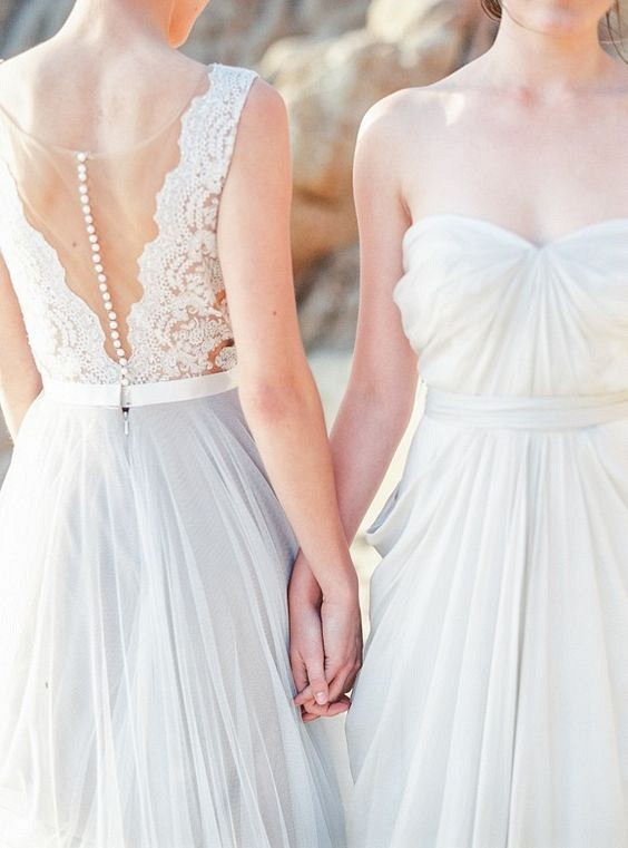 25 Best Colored Wedding Dresses for the Fine Art Bride - Michele Beckwith Photography -