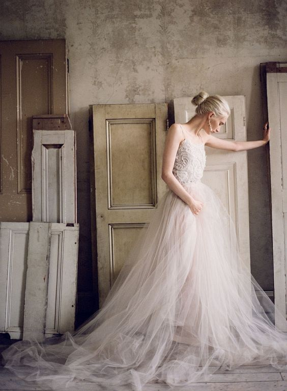 Best 25 Colored Wedding Dresses for the Fine Art Bride - Samuelle Couture and Taylor & Porter