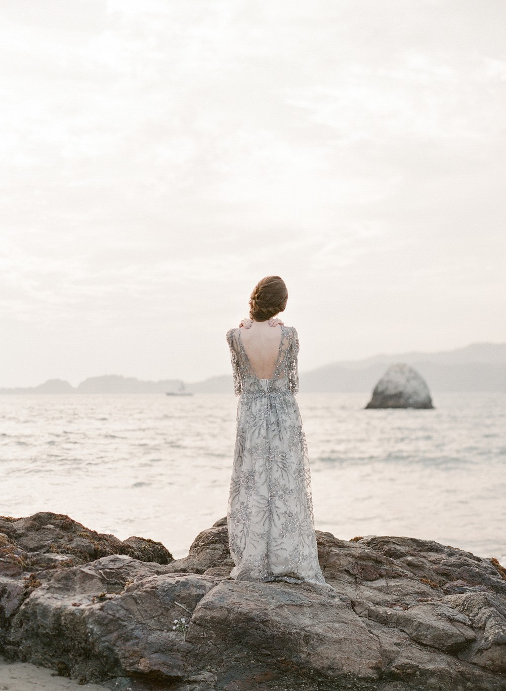 Pale Blue Oceanside Bridal Inspiration: Long Lost Love at Sea