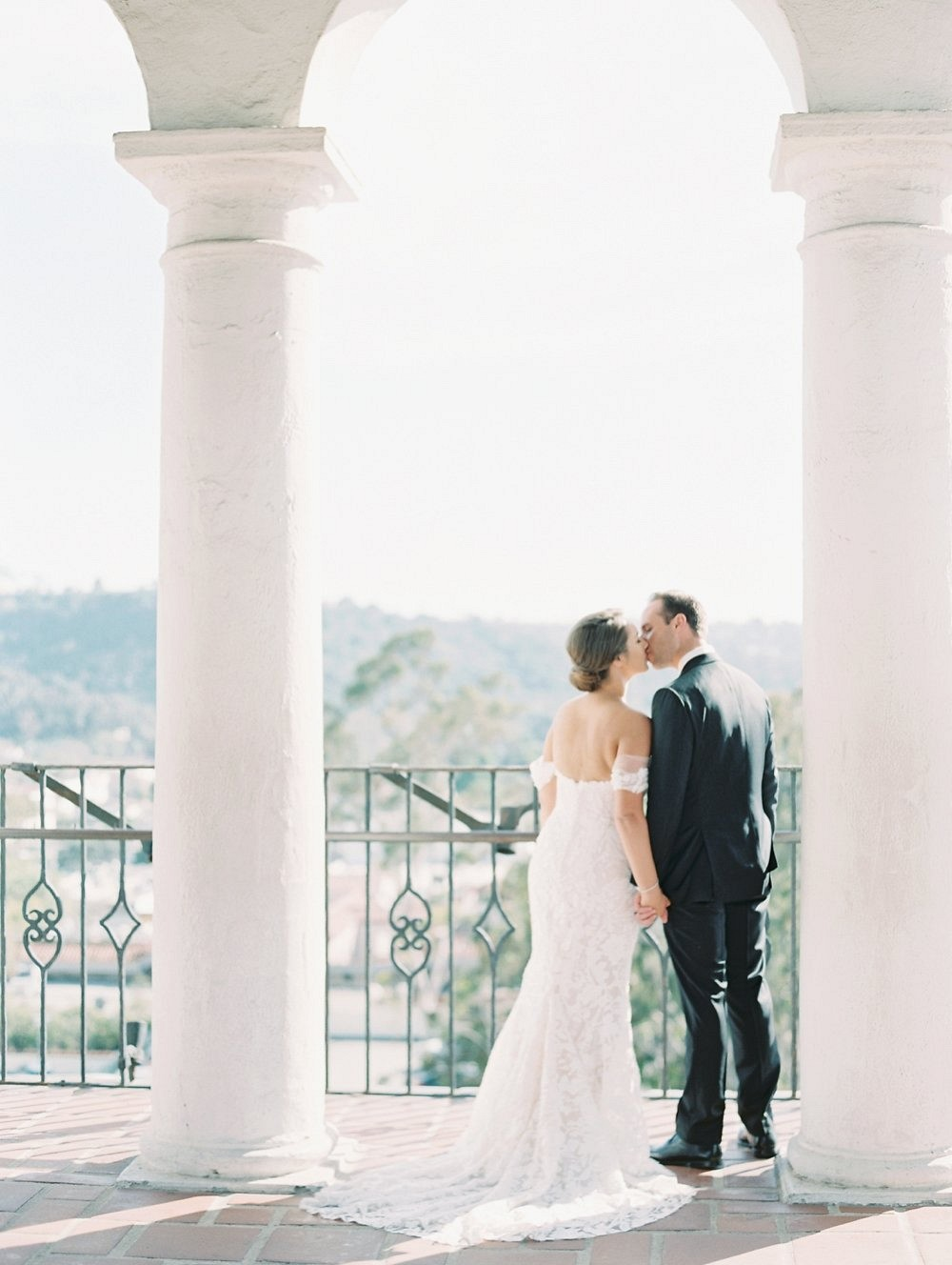 Intimate Monochromatic Wedding in Santa Barbara