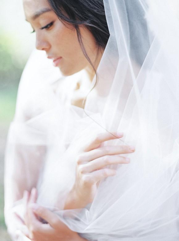 Bridal Braid Inspiration with a Floral Crown | Bridal Hair Ideas on Wedding Sparrow