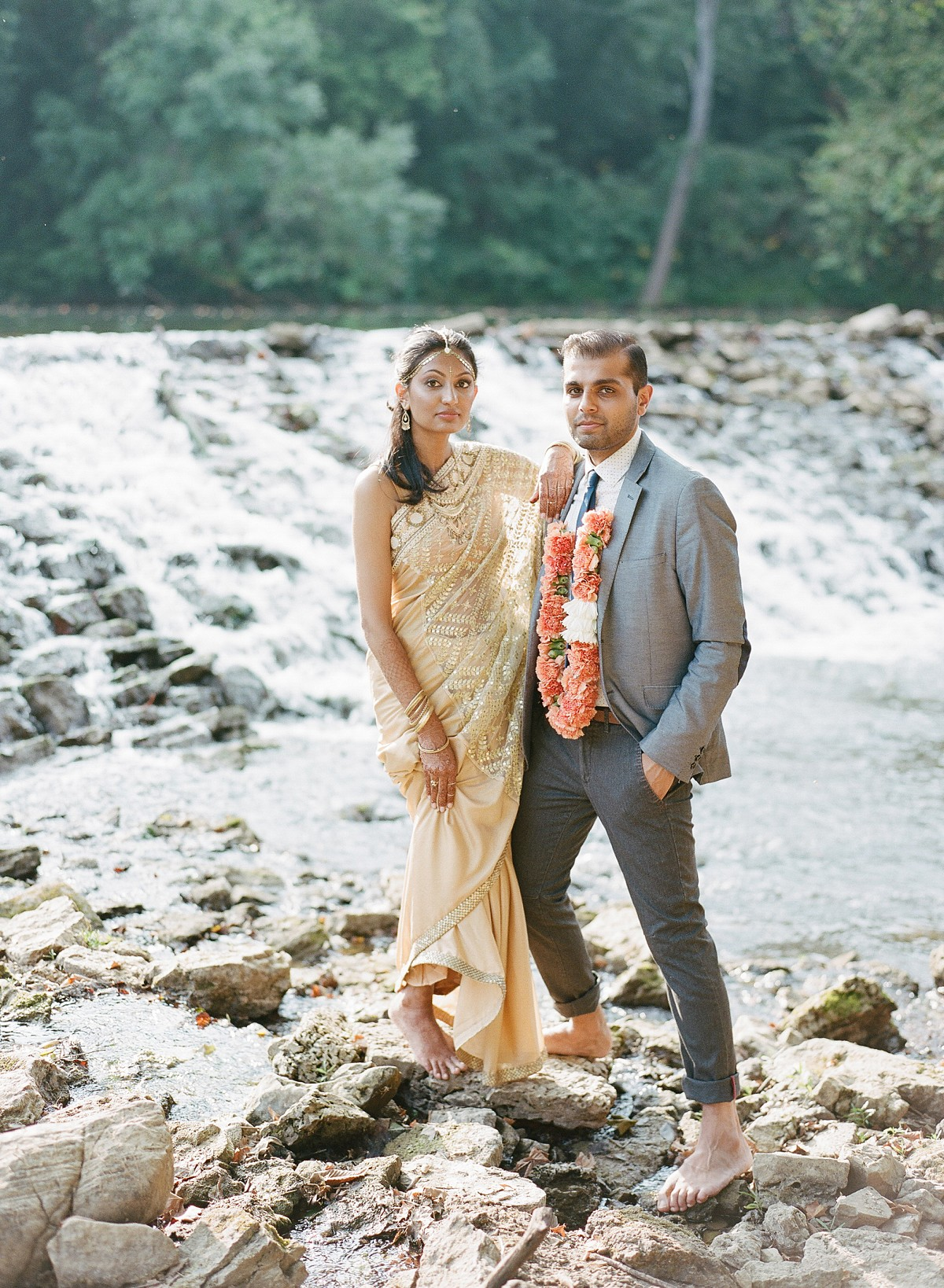 Indian wedding inspiration with tangerine, coral and sapphire tones