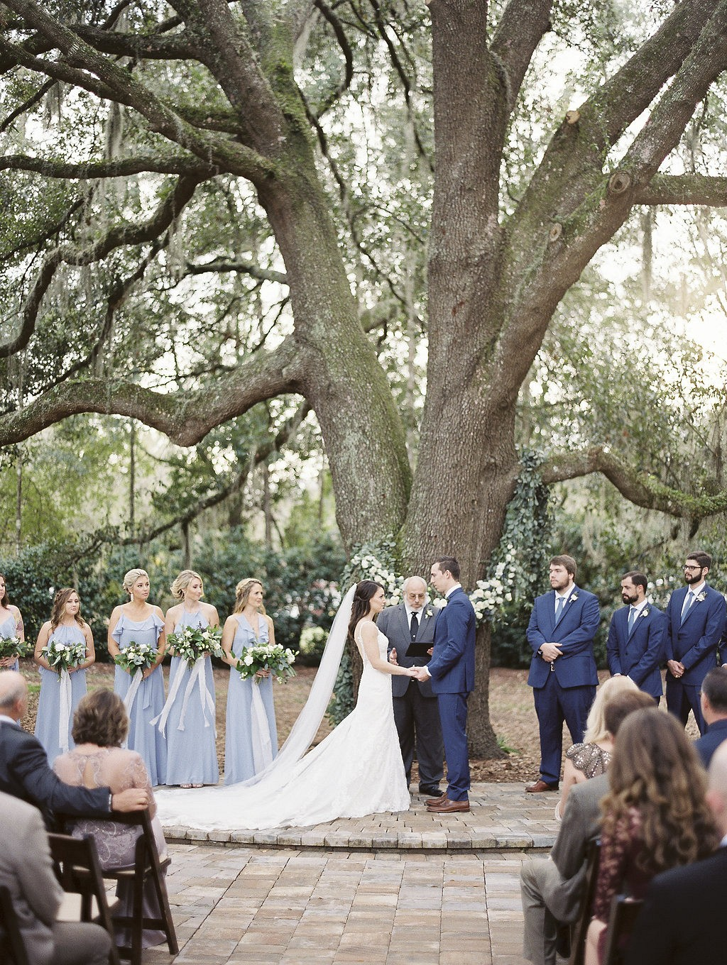 Amanda and Stephen's Dusty Blue Wedding with lots of Greenery