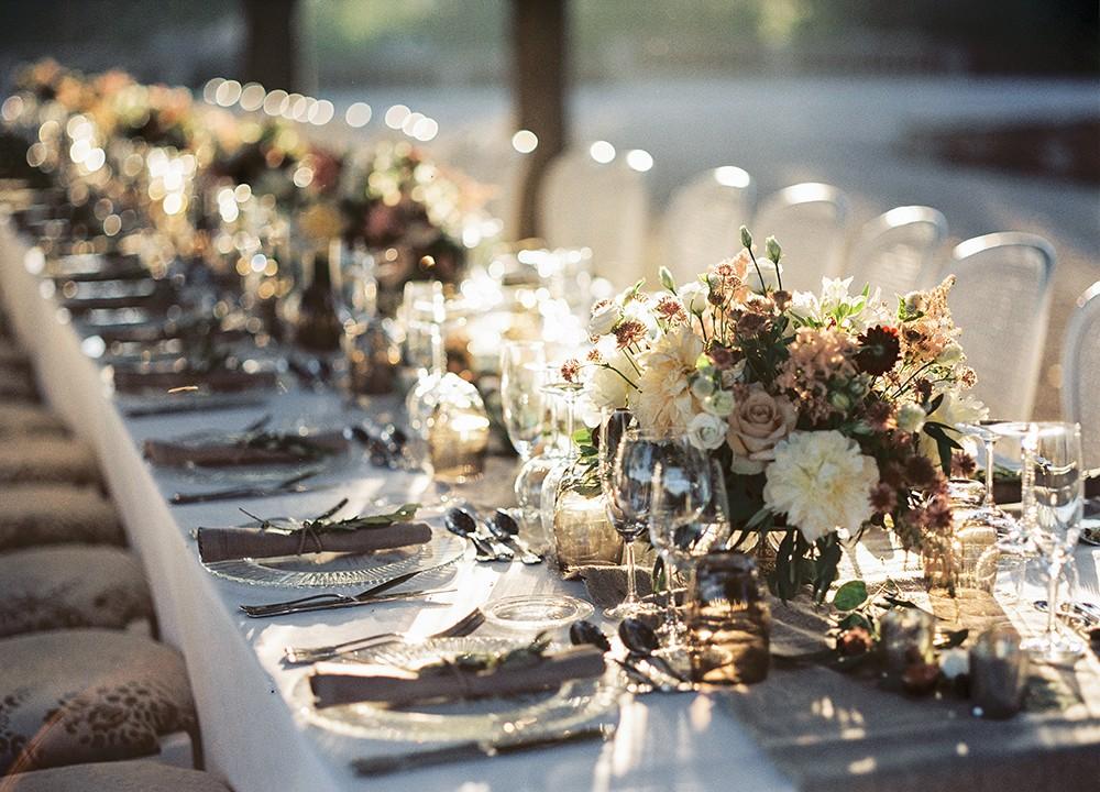 Romantic Monochromatic Real Wedding in Barcelona