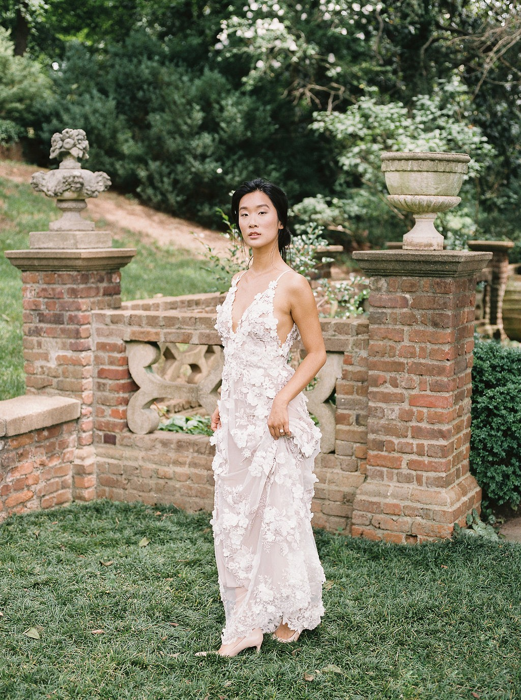 Romantic Estate Wedding Inspiration with a Floral Wedding Gown