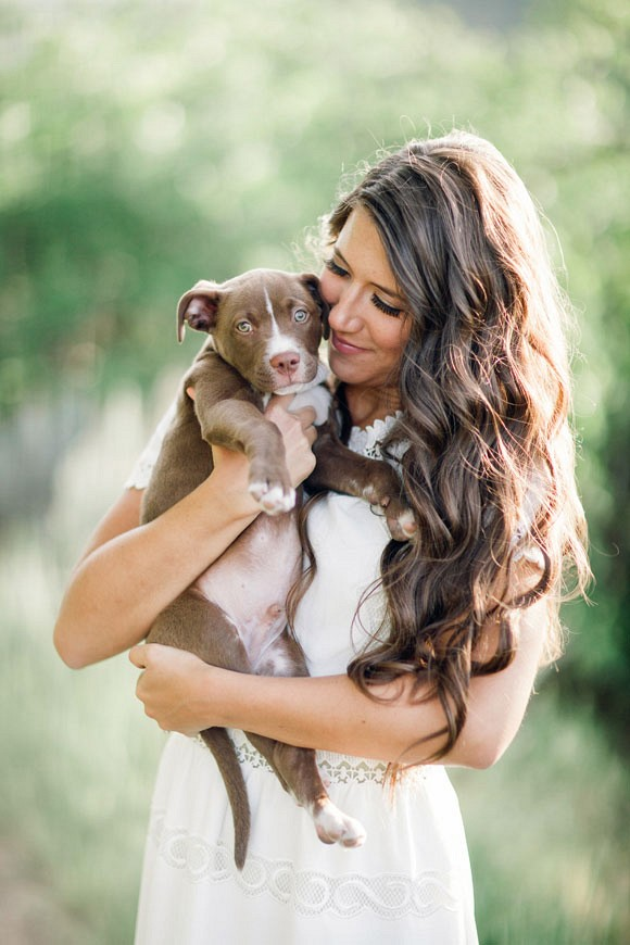 Sweet puppy filled engagement