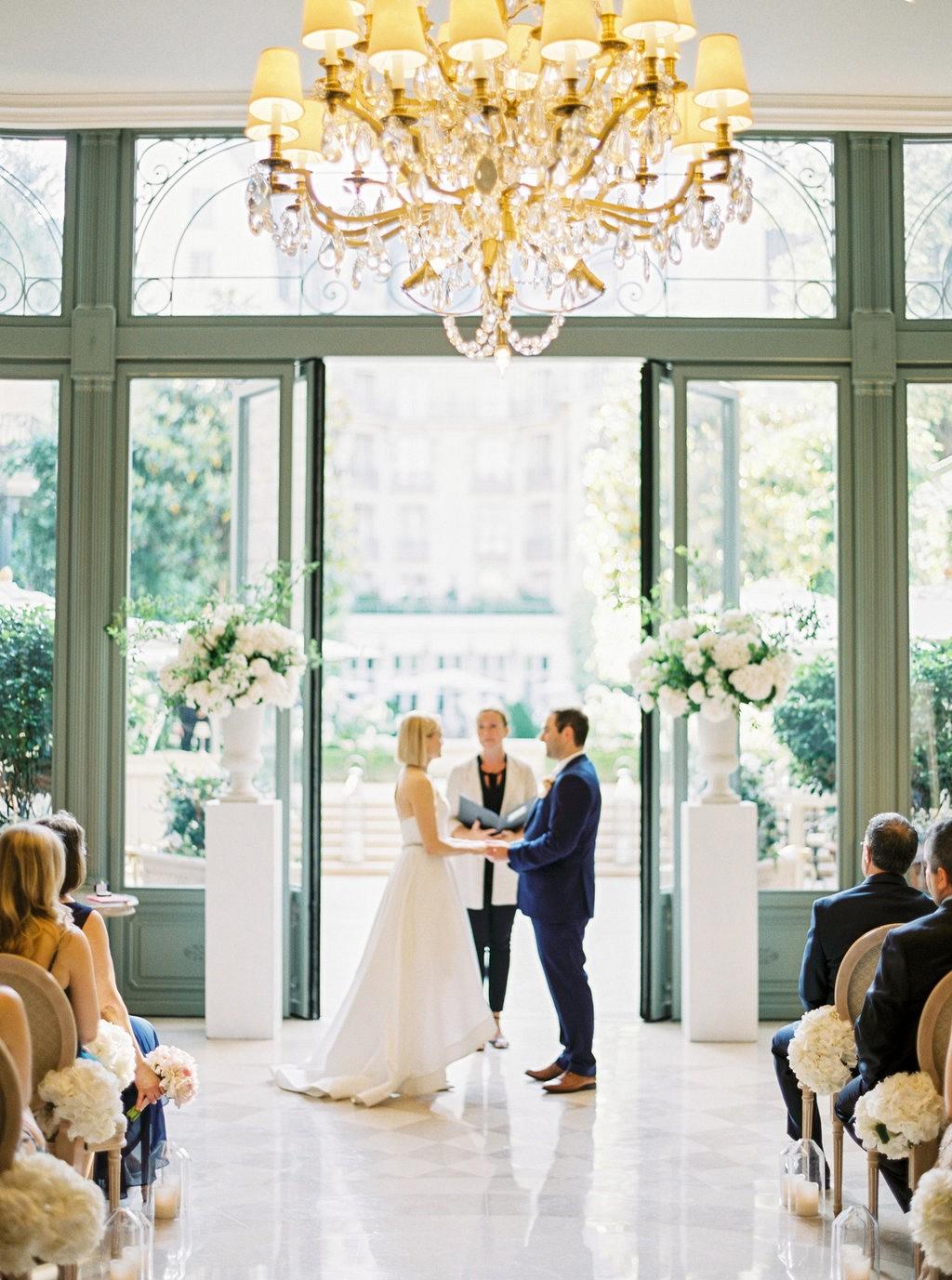 Alex and David's Romantic Destination wedding at the Ritz Paris