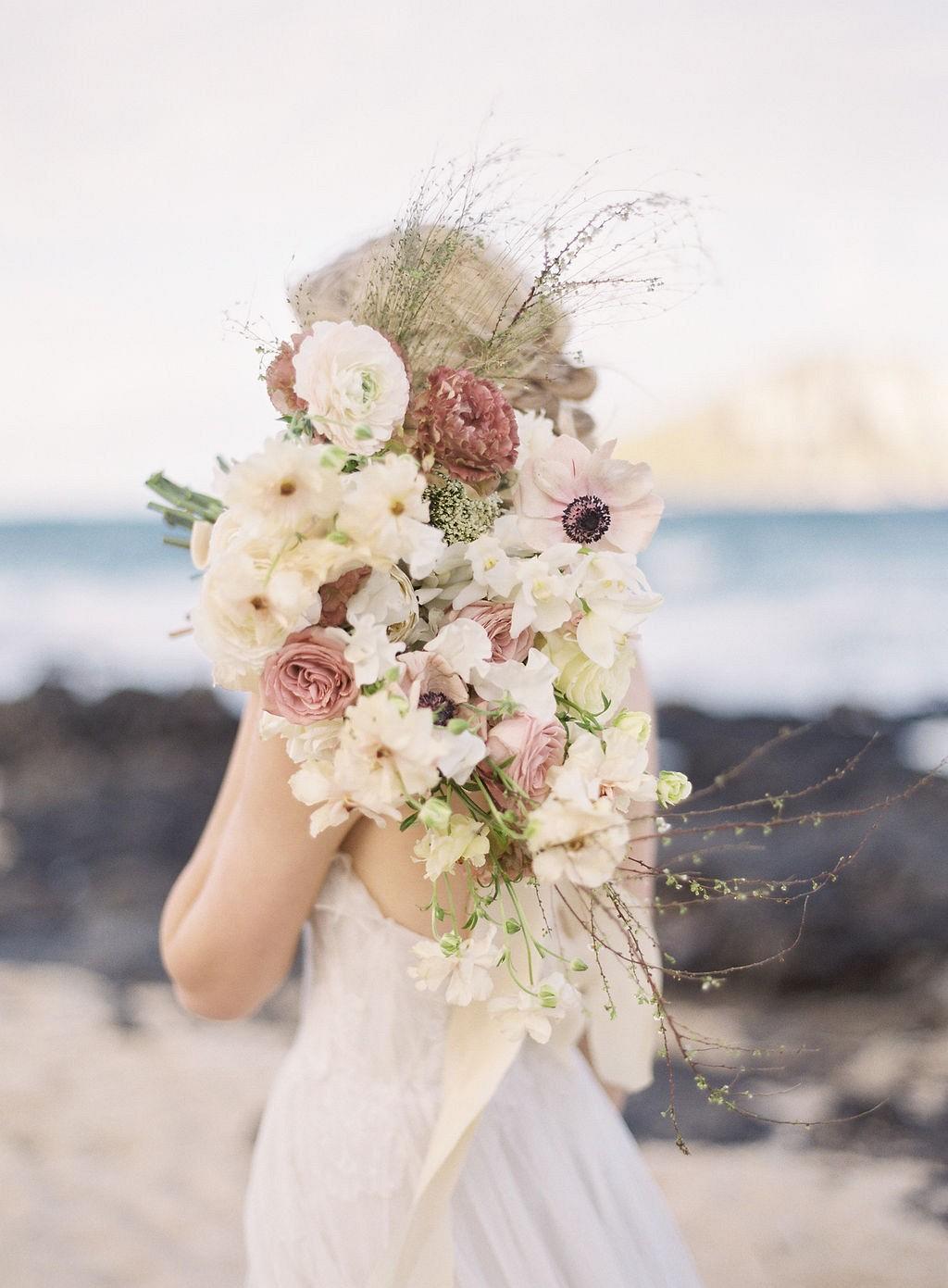 Wild Coastal Wedding Inspiration in Hawaii
