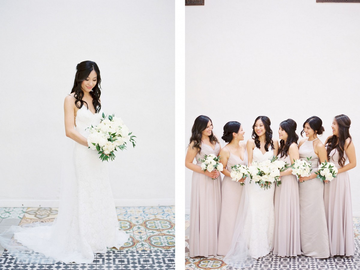All White Real Wedding with Tuxedo's and Katie May Gown