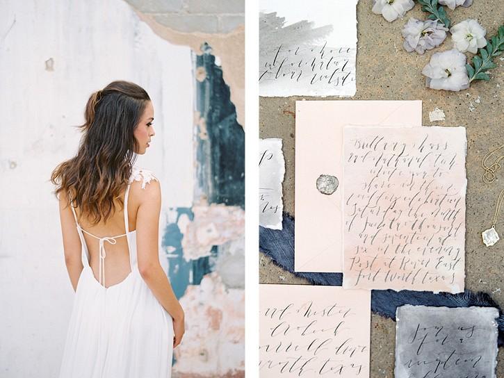 Moody pastel wedding inspiration