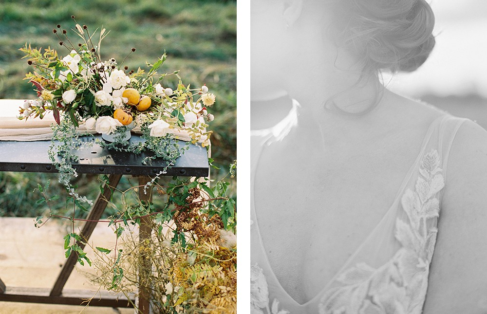 Autumnal Wedding Inspiration in Amber and Gold | Wedding Sparrow fine art wedding blog