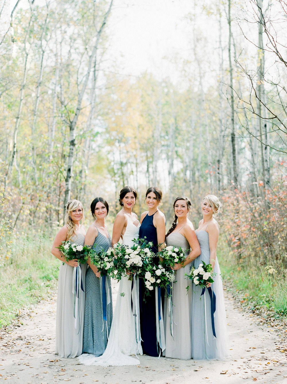 Brittany and Russ' Blue, Grey, and Neutral Wedding