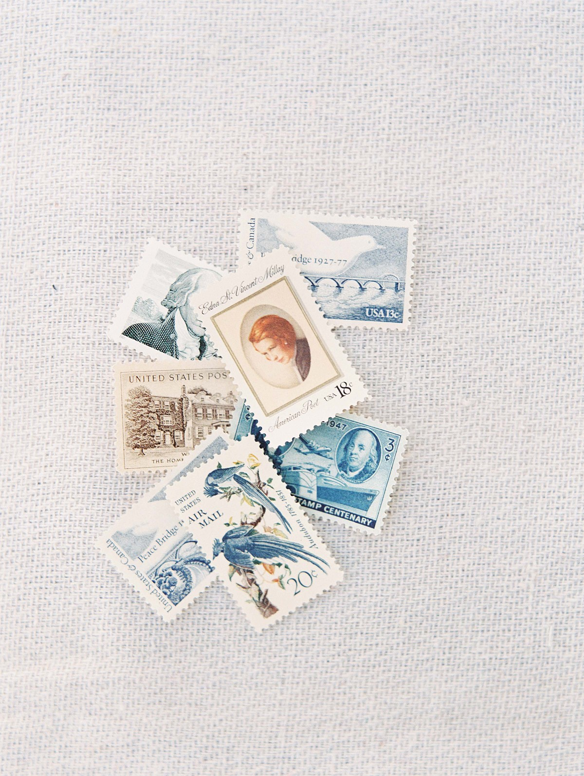 Coastal Wedding Inspiration - D'Arcy Benincosa - vintage stamps
