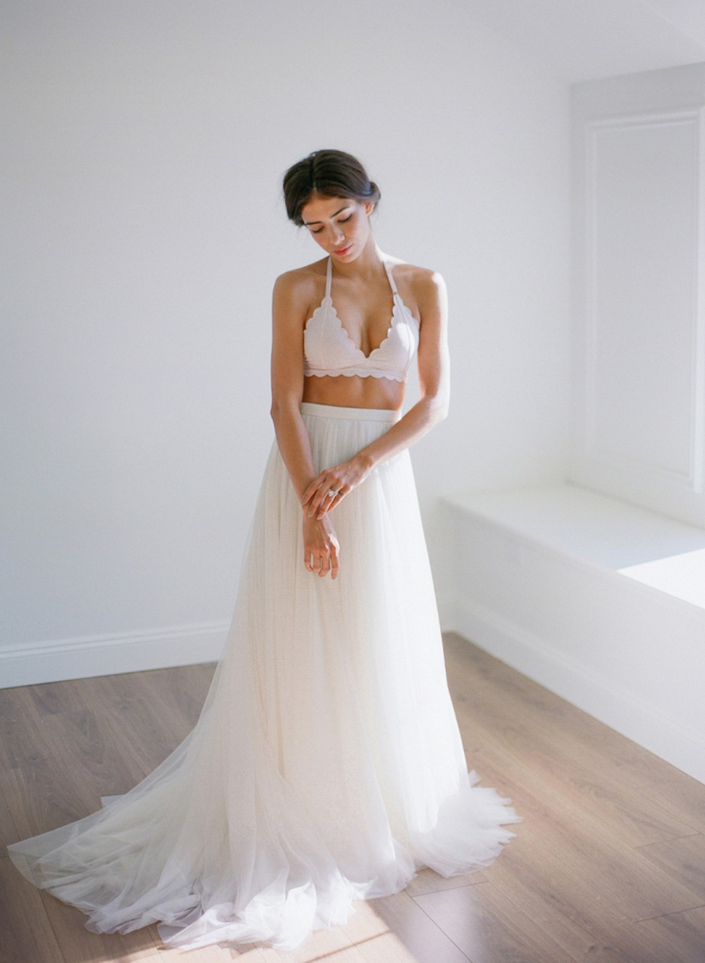 Soft and Sweet Bridal Boudoir Outfit Inspiration