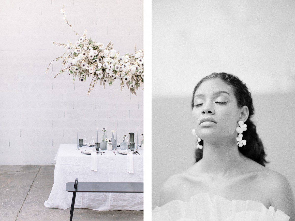 Light & Shadow : Couture Monochromatic Wedding Ideas