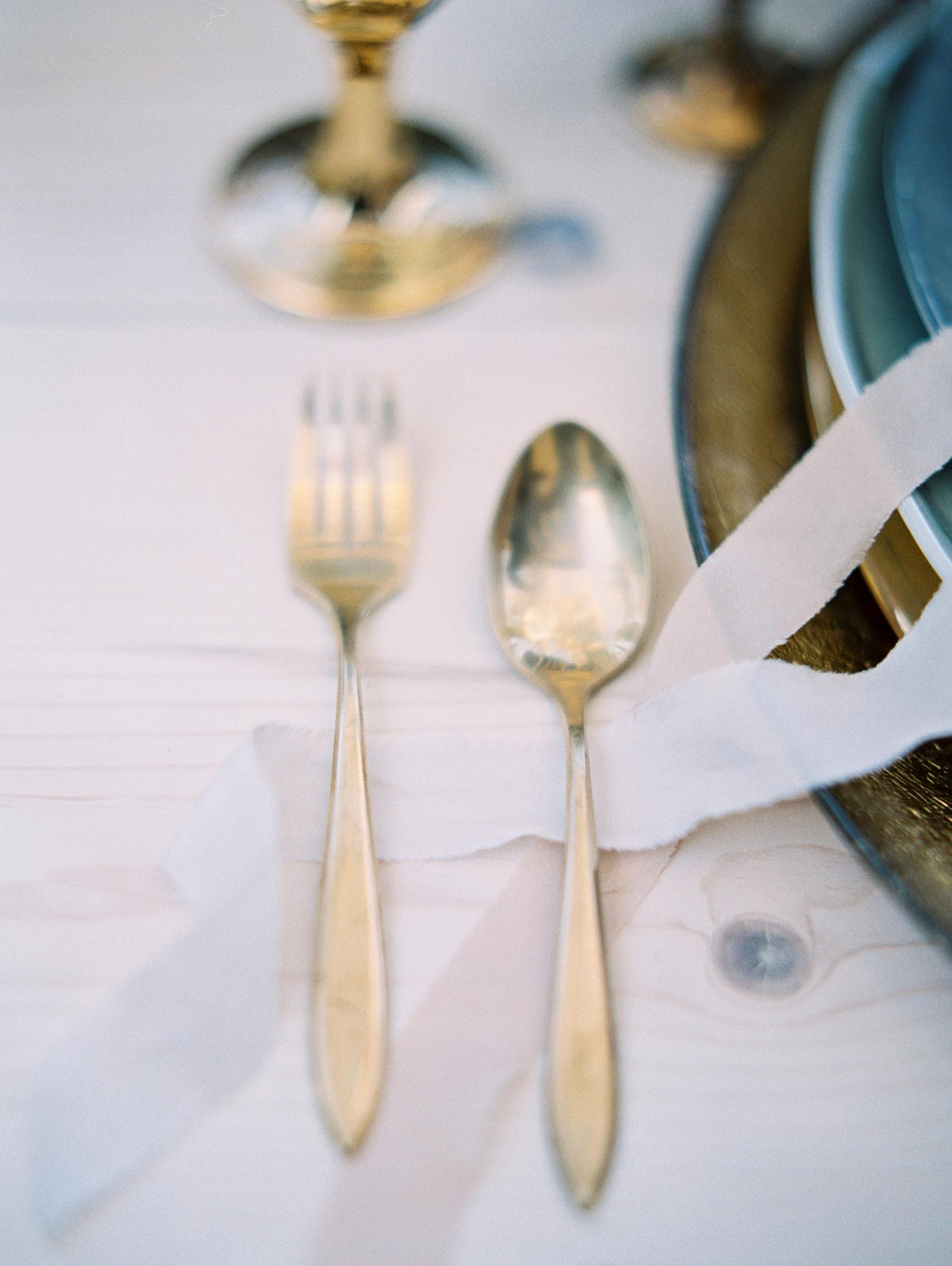 Mixed Metals and Pale Blue Wedding Inspiration
