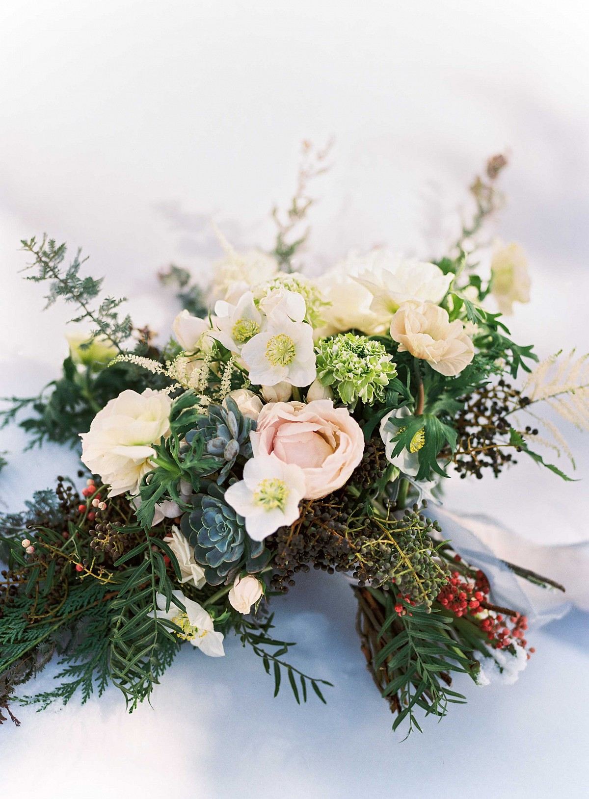Brice and Ian's Gold and Emerald Winter Wedding