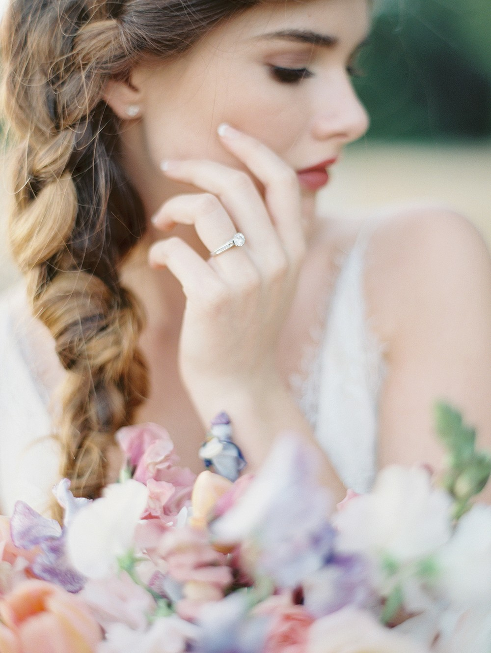 Braided Hair for a Spring Bride