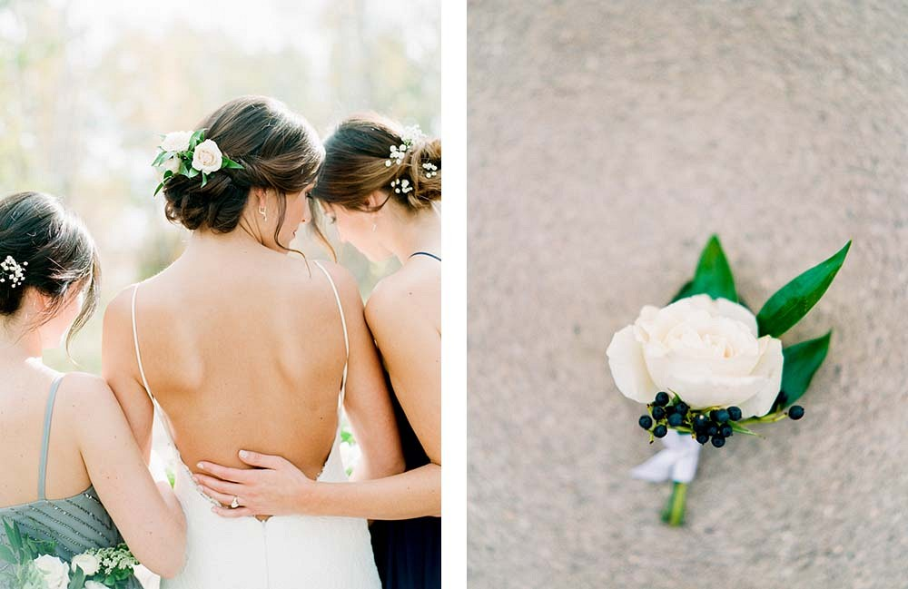 Brittany and Russ' Blue Grey and Neutral Wedding by Brittany Manhood Photography | Wedding Sparrow