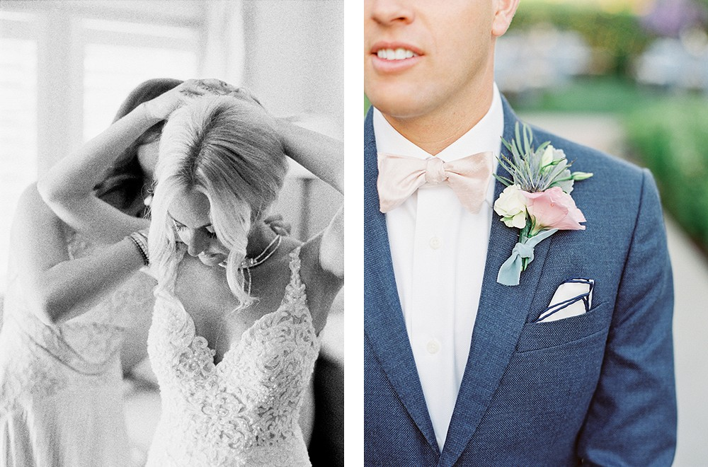 Anisa and Kyle's Summer California wedding in shades of blush and pink | Wedding Sparrow