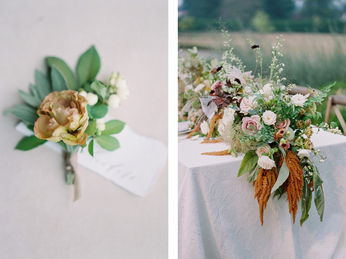 Lush Green Wedding with Pear Details