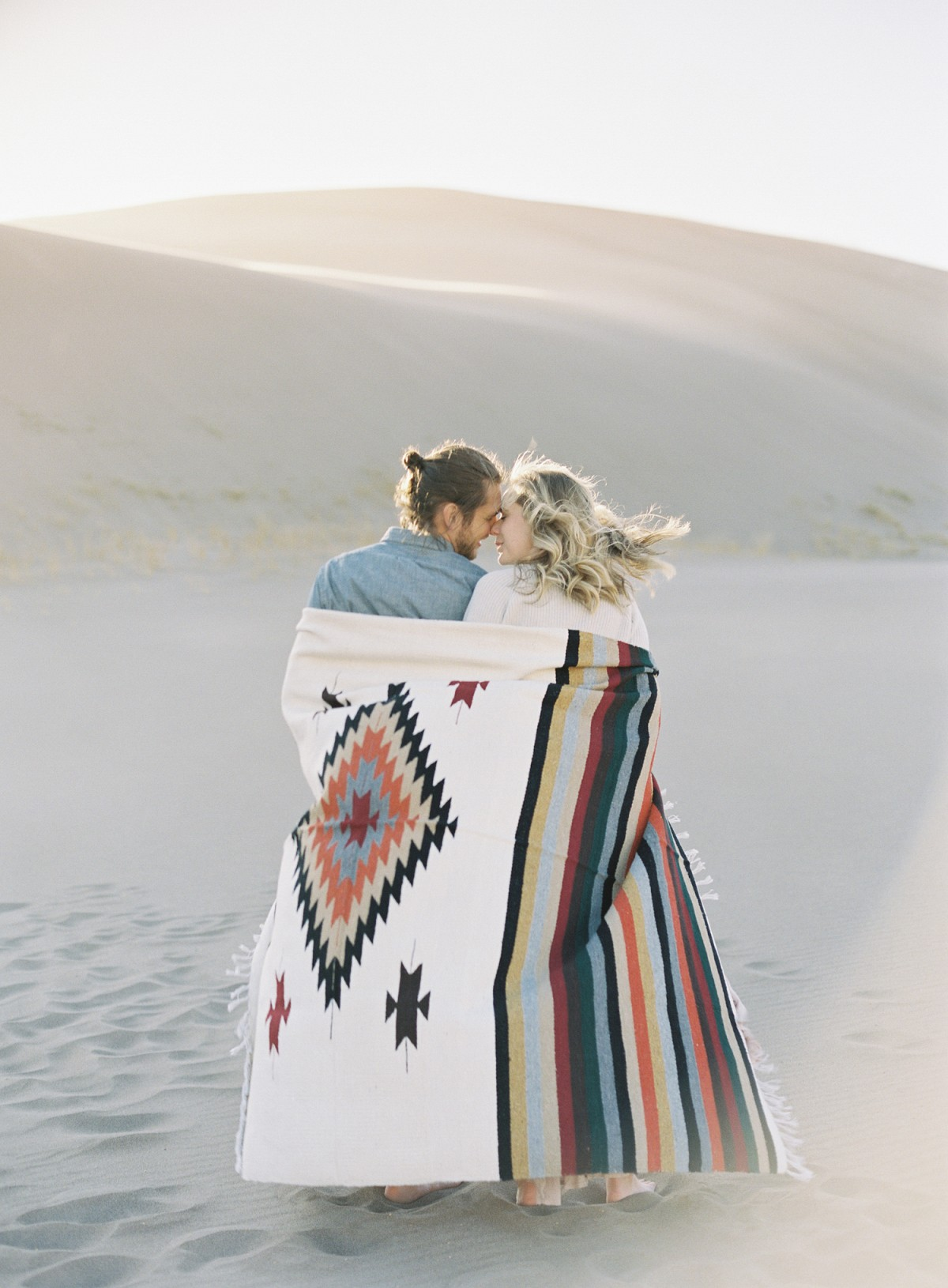 Sunset Engagement Session in the Sand Dunes