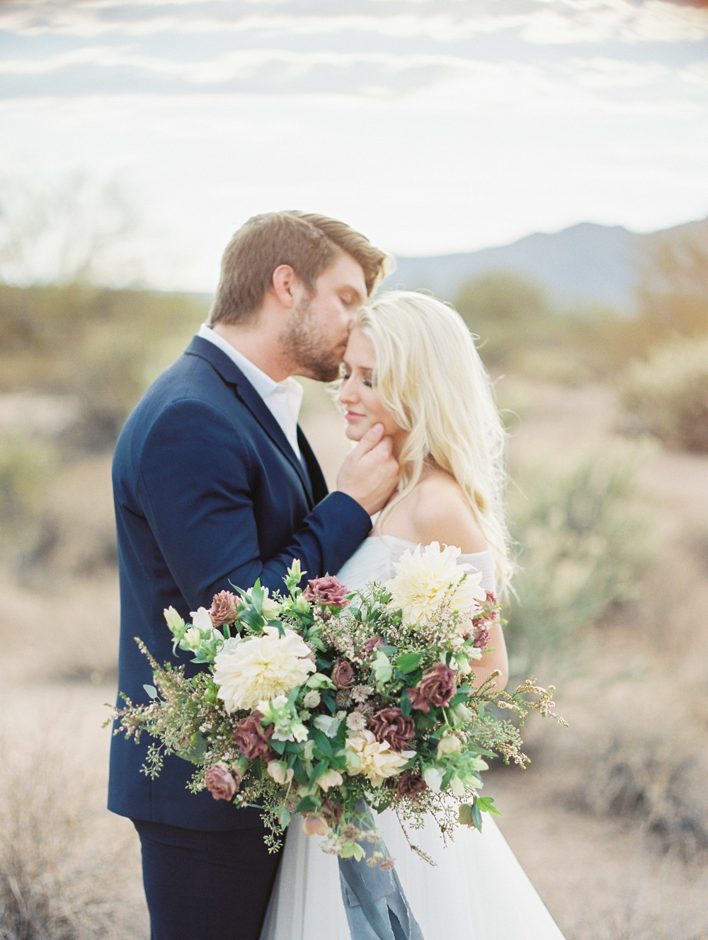 Romantic Desert Elopement during Sunset