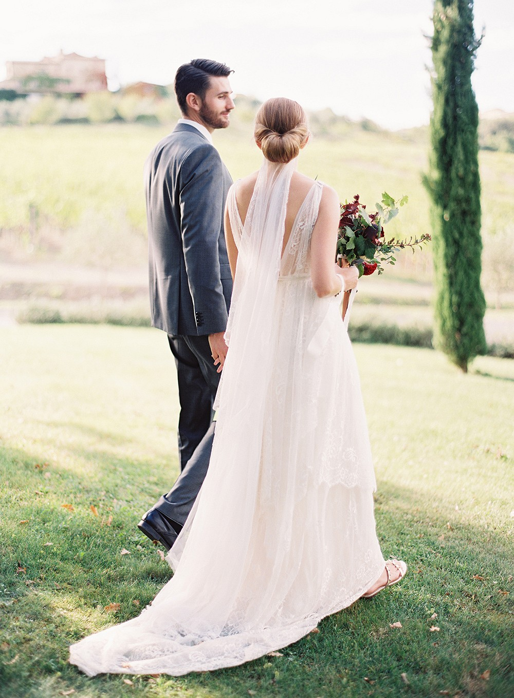 Intimate Elopement and Dinner Gathering in Tuscany
