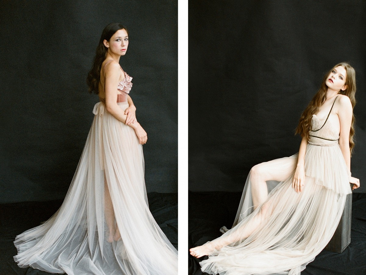 The Golden Age - Amber Colored Wedding Dresses