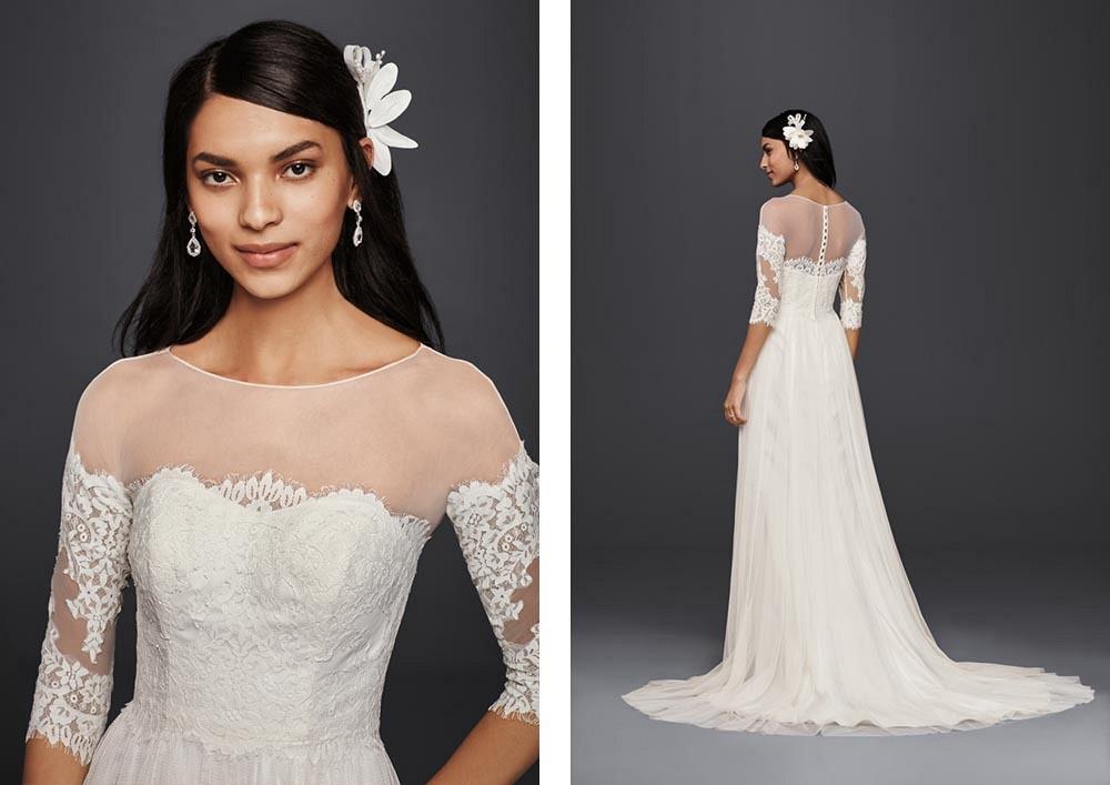 Fall 2016 Wedding Dress Trends with David's Bridal | Budget wedding gowns | Wedding Sparrow