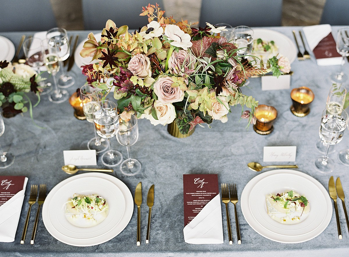 Winter Wedding Inspiration in Jewel Tones