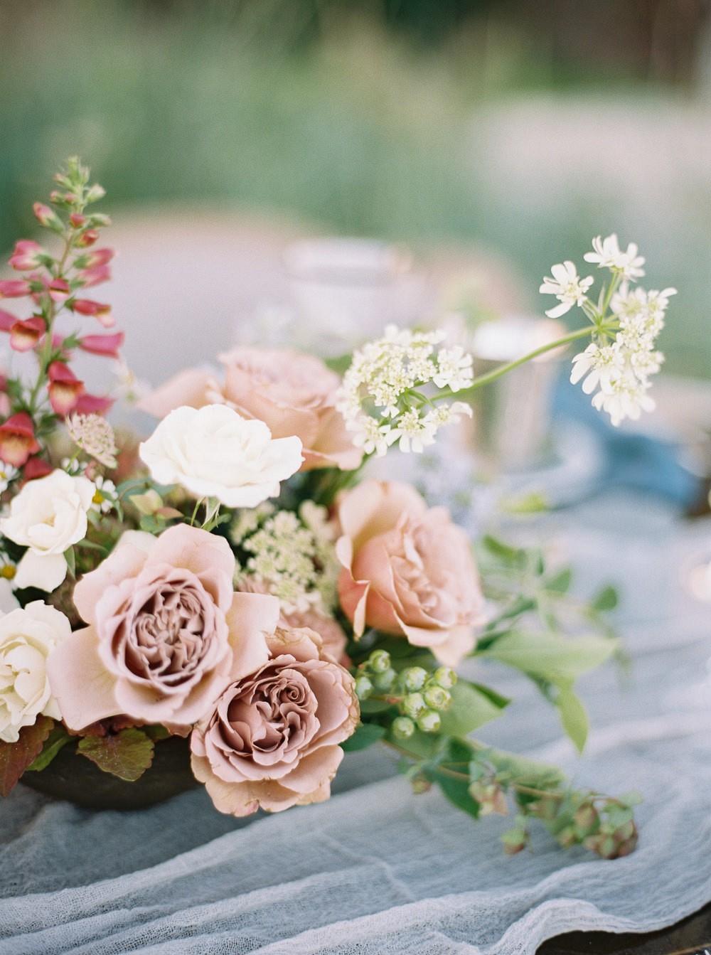 Grey, Mauve, and Blue Classic Wedding Inspiration
