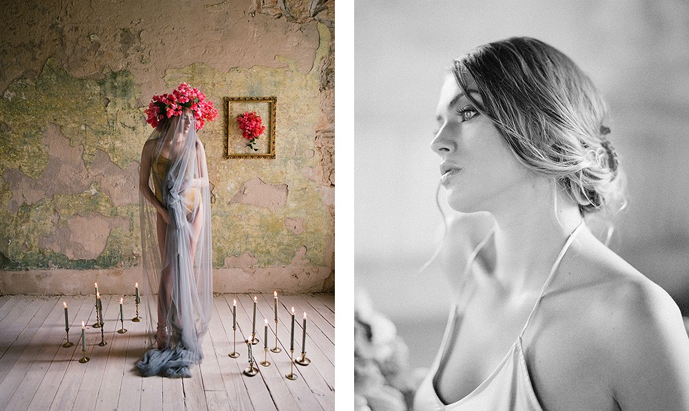 Editorial Boudoir Session in Moody Tones | Wedding Sparrow