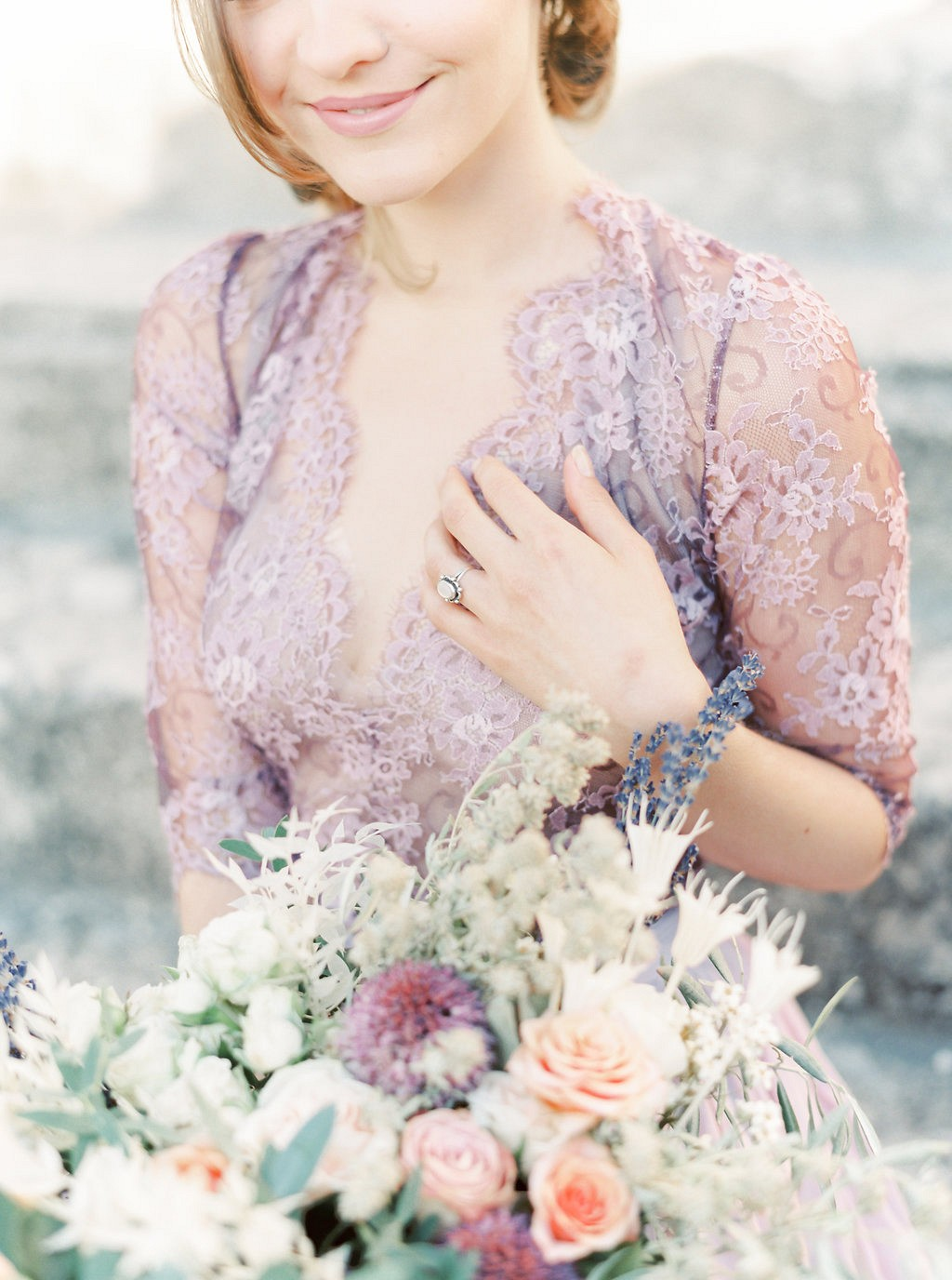 Lavender and Purple Bridal Session in Provence by Lauren Fair Photography | Wedding Sparrow fine art wedding blog