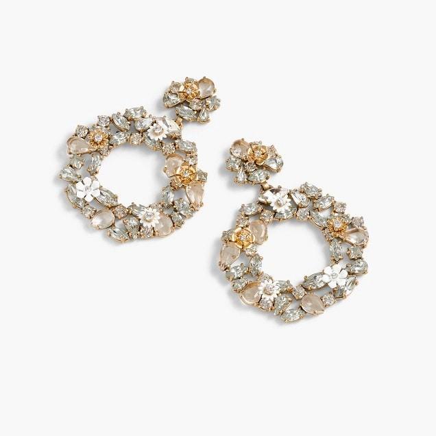 Crystal Hoop Earrings - Black friday sales for bride, bridesmaid, or groom