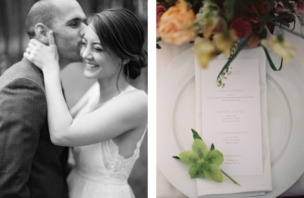 Garden wedding at Serenbe by Katie Hyatt