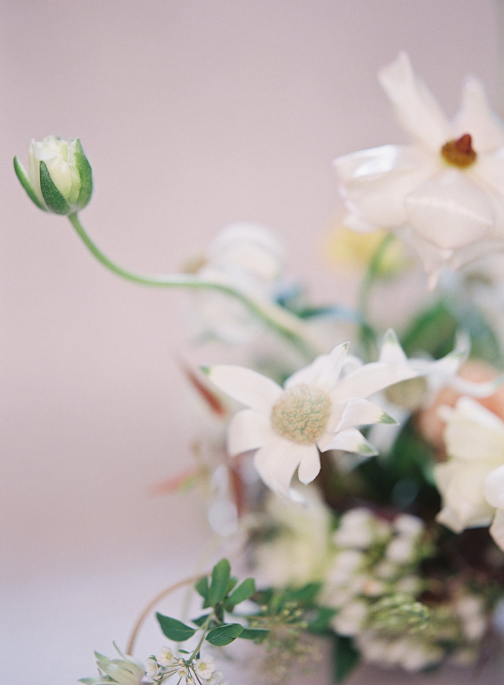 Contemporary and Feminine Bridal Session with an Organic Bouquet
