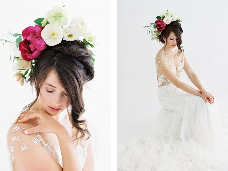 Ways to wear flowers in your hair