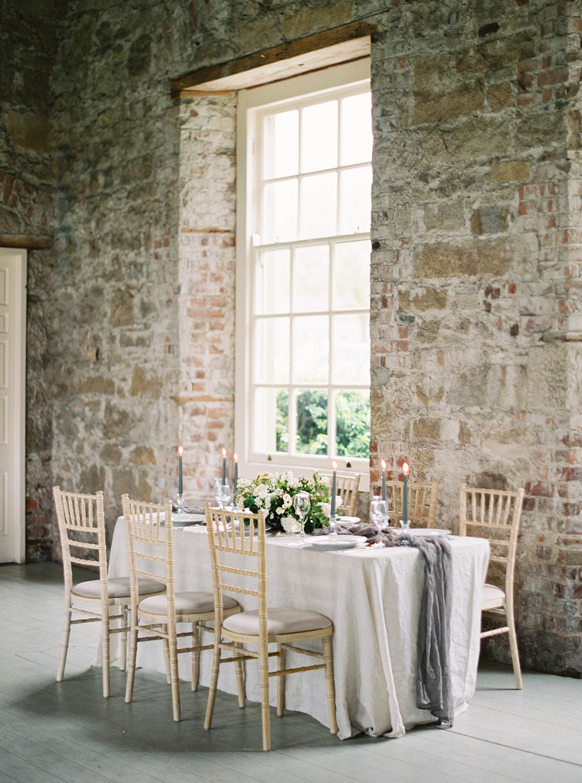 Historic Irish Wedding Ideas with grey details