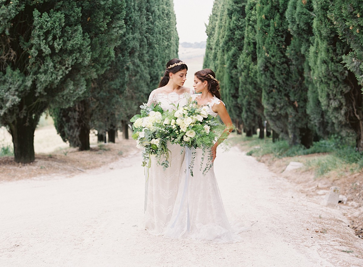 Two Brides in an Italian Villa