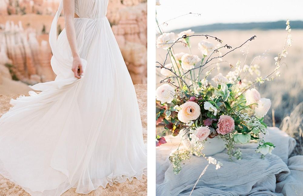 Romantic Desert Elopement by Jacquelyn Hayward Photography   Wedding Sparrow   fine art wedding blog